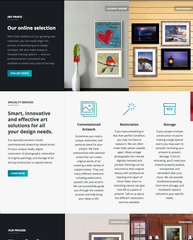 Art Consulting & Decorating Website | Kara Design Group