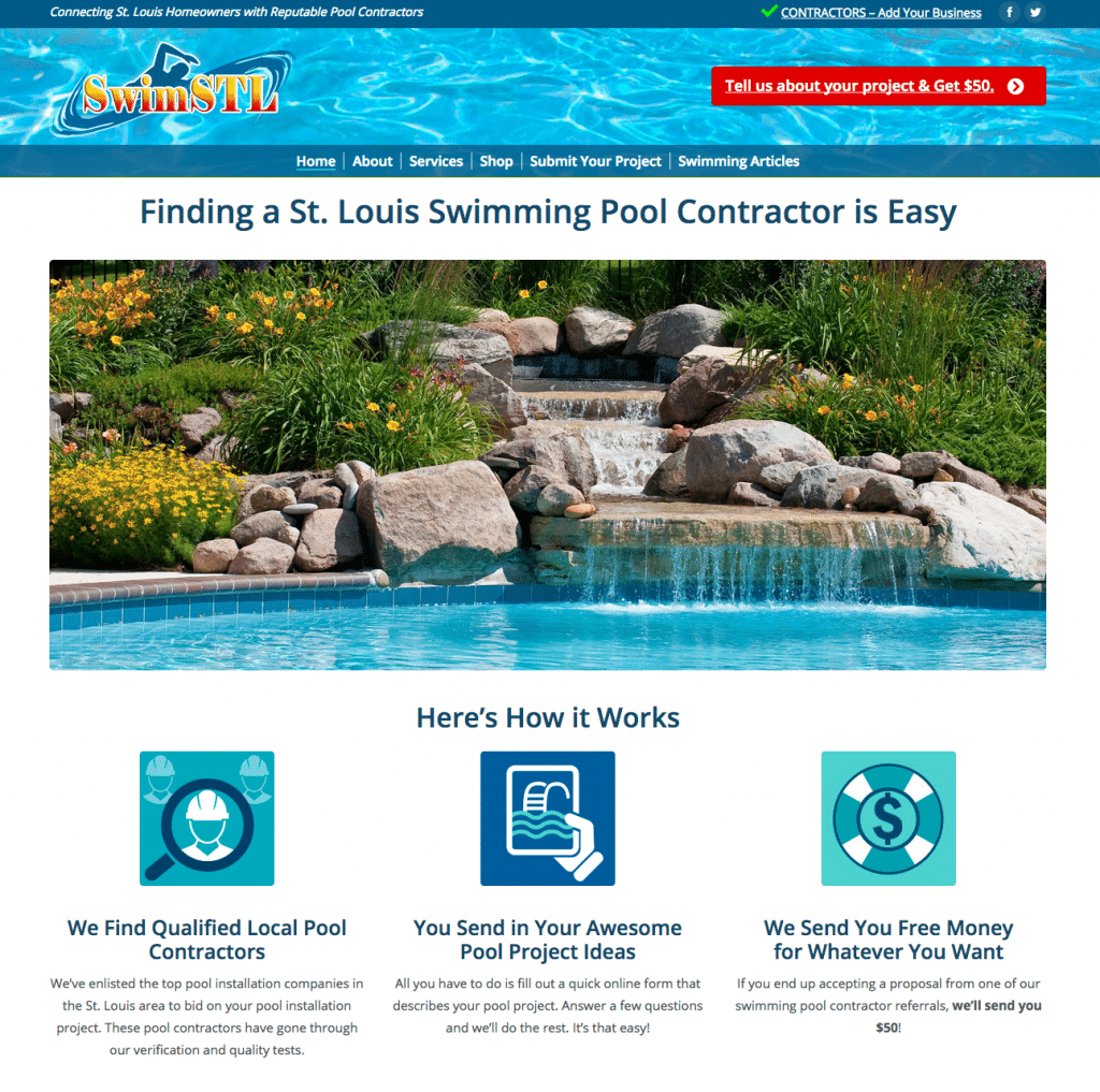 Swimming Pool Service Web Design | Kara Design Group
