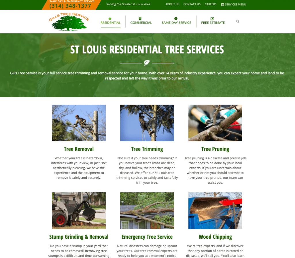 Gills Tree Service Web Design   Kara Design Group